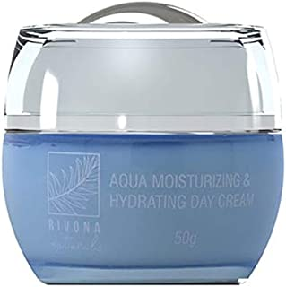 Rivona Naturals Aqua Moisturizing & Hydrating Day Cream   Moisturization + Damage Repair + Natural Nourishment + Total Protection + Anti Aging Properties   50 G