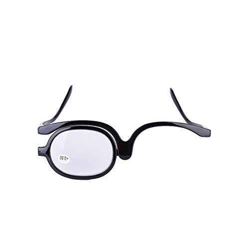 Gafas de maquillaje de ojos, aumento de ojo giratorio de una sola...