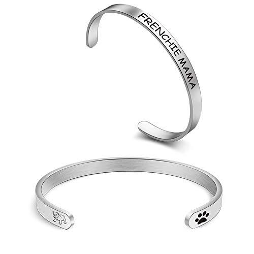 Frenchie Mama Cuff Bracelet French Bulldog Bracelet Bulldog Mom Gift Bulldog Lover Gift for Women(frenchie CB)