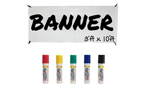 DIY Banner with clips, rope and markers