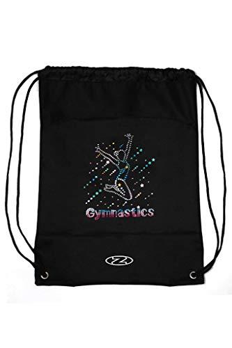 The Zone - Bolsa para Gimnasia con cordón, diseño de Holograma arcoíris, Color Negro