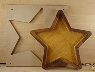 Woodline Bowl and Tray Template 5 Point Star Design