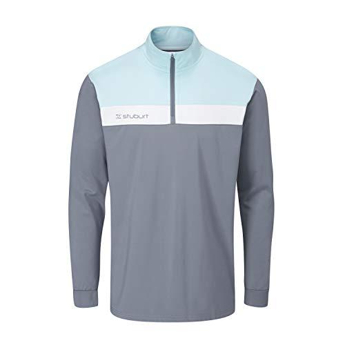 Stuburt Golf SBTOP1122 Evolve Extreme Veste de golf thermique et respirante pour homme avec demi-fermeture Éclair S Gris