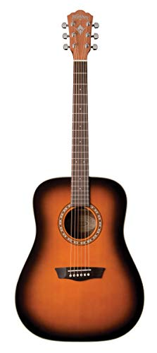 Washburn 6 String Acoustic Guitar, Right (WD7SATB-A)