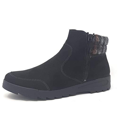 Jenny Damen Cortina 22-64703-61 Schwarze Textil Boots Größe 41.5 EU Schwarz (schwarz)