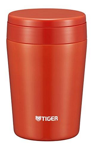 Tiger Thermos MCL-B038-RC - Tarro de sopa de aislamiento al vacío (380 ml), color rojo...