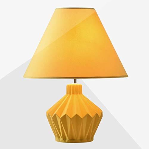 KGDC lámpara de mesita de Noche Nordic Amarilla lámpara de Mesa de Noche Creativo Dormitorio de la Sala de cerámica botón del Interruptor de la lámpara de Noche lámpara Decorativa
