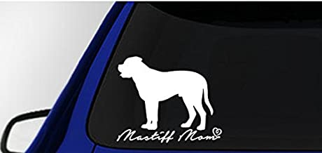 Mastiff Mom Decal Vinyl Sticker|Cars Trucks Vans Walls Laptop| White |5.5 x 4.5 in|LLI249