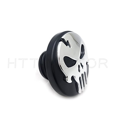 SMT MOTO- Chrome Skull Fuel Gas Tank Cap Cover For Harley 1992-Up FXD/ 2000-Up Softail