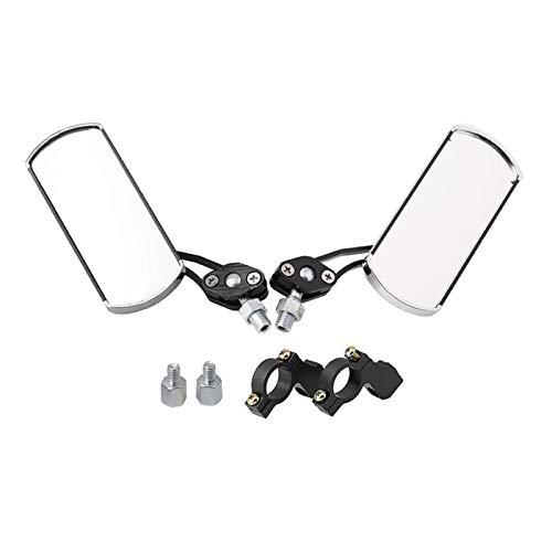 ZIS Espejo De Bicicletas, Un Par De Rotación De 360 Grados Trasero Retrovisor Espejo Manillar Espejo De Bicicleta De Gran Angular (Color : Black)