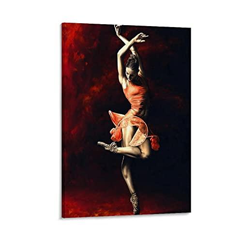 Póster decorativo con texto en inglés 'A Graceful Dancer The Passion of Dance' (20 x 30 cm)