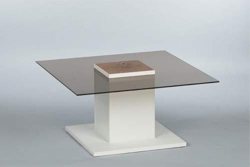 Couchtisch Woods 16740 Wohnzimmertisch Glastisch Tisch Weiß/Glas