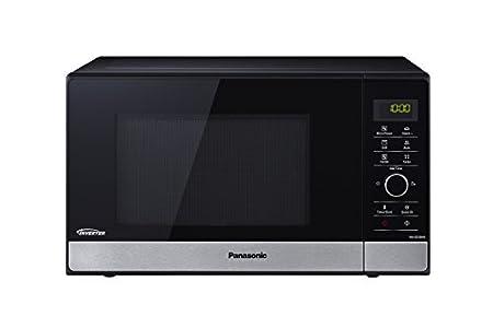 Panasonic NN-GD38H - Microondas con Grill (1000 W, 23 L, 6 niveles, Grill Cuarzo 1100 W, Plato Giratorio 285 mm, Control tácti L, 17 modos, Turbo Defrost, tecnología Inverter) Negro