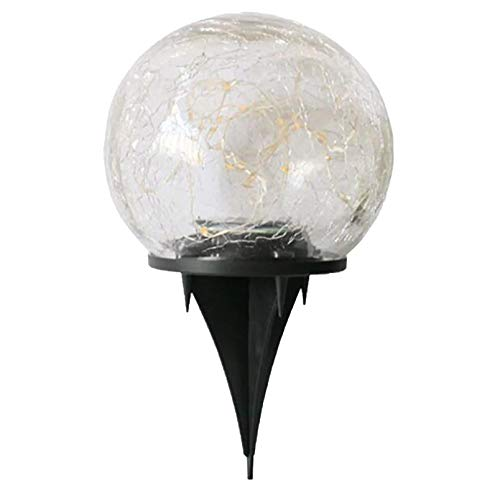 Luz solar LED para jardín, jardín, decoración enterrada, bola de cristal al aire libre, con enchufe de tierra, apto para pasillo al aire libre, diseño impermeable