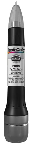 Dupli-Color AFM0229 Oxford White Ford Exact-Match Scratch Fix All-in-1 Touch-Up Paint - 0.5 oz (0.25 oz. paint color and 0.25 oz. of clear)