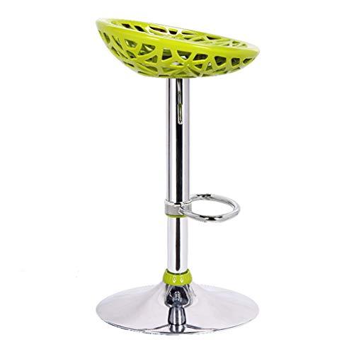 Sgabelli da Bar Sgabello Bar Sgabelli da Bar Sedia da Colazione Poggiapiedi Girevole a 360 ° Moda Regolabile Mobili for Cucina di casa, 60-77 cm (Color : Green)