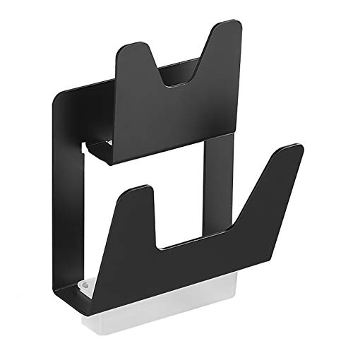 PTY Pot Lid Rack Pot Lid Holder Wall Mounted, Pan Cover Rack Organizer Supply Punch-free Spacing for Kitchen, Black (Color : Black, Size : 2 layer)