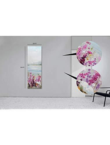 Casarreda Store Dipinto Campo di Fiori in Rilievo Realizzato a Mano 30x90 - BUBOLA E NAIBO