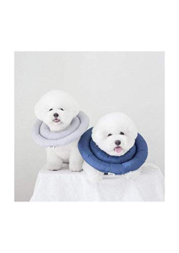 ARRR Dog Comfy Cone, Soft Recovery Collar After Surgery, Waterproof Pet Cone for Dogs and Cats (Large, Navy)