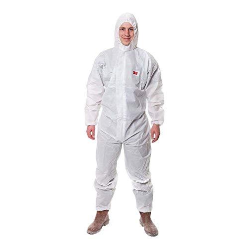 3M 4515 Indumento di protezione 5/6, SMS Polipropilene, Bianco, taglia XL