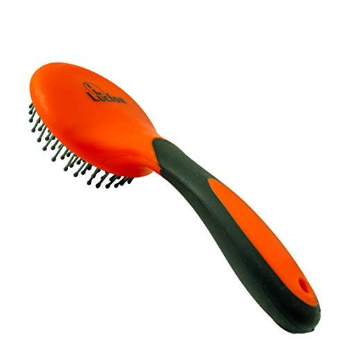 Lucfor Schweif- Mähnenbürste für Pferde   Mane Brush Pferdebürste Comfort Gelgriff Orange   Glattes Haar durch das Wichtiges Pferdezubehör das Putzzeug für Pferde Kinder die Mähnen Bürsten