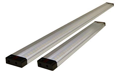 Müller-Licht LED Unterbauleuchte Balic Sensor DIM 50 cm - vielfältig einsetzbar z.B. in der Küche, in Schubladen oder in Schränken - 8 W - 4000 K - Aluminium - silber