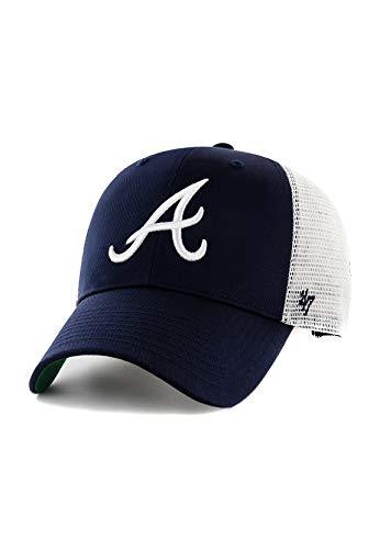 47Brand Branson Trucker MVP Cap Atlanta Braves B-BRANS01CTP-NY Dunkelblau, Size:ONE Size