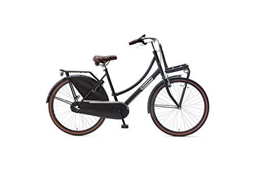 Popal Daily Dutch Basic+ Kinderfahrräder Mädchen 26 Zoll 46 cm Mädchen 3G Rücktrittbremse Mattschwarz