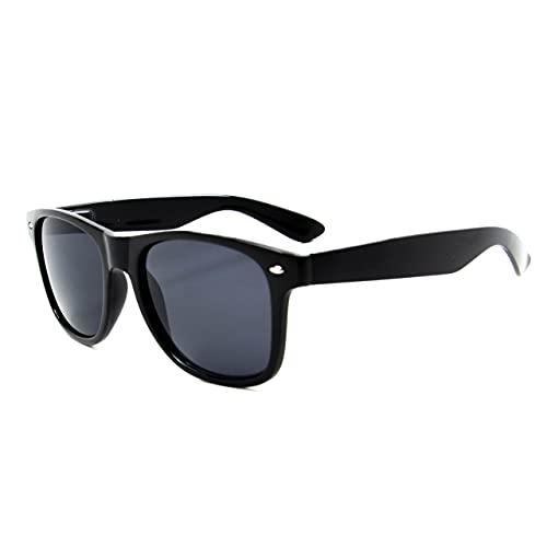 Óculos De Sol Unissex Quadrado Preto Clássico Taylor Uv400 (Preto)