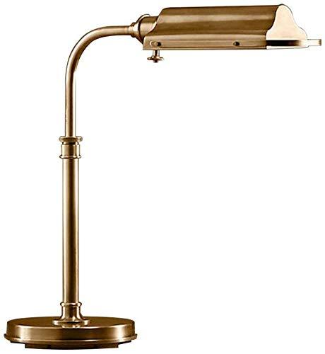 CCHWJX Vintage industriële bureaulamp E27 roestvrij staal taak lamp eye-onderhoud binnenverlichting 40W rustieke tafellamp voor het lezen van het werk kantoor slaapkamer familiehotel
