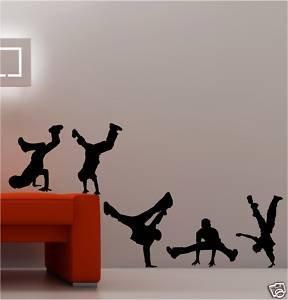 Coavas Adesivo da parete, soggetto: danza hip-hop, per camera