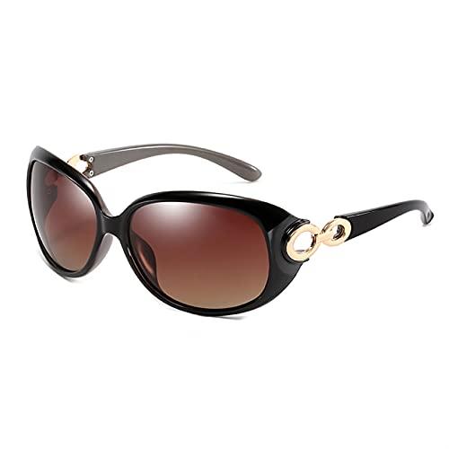 ZKP Gafas de sol polarizadas clásicas con estrellas polarizadas UV400 con protección UV, 4 opciones de color (color: marco negro té progresivo)