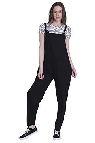 Wash Clothing Company Jumpsuit voor dames - linnen - zwart Playsuit licht ROXANNEBLK