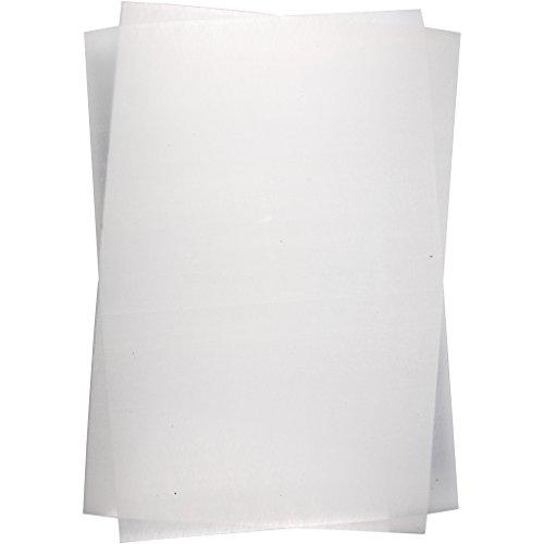 Hojas de plástico retráctiles, 20 x 30 cm, color blanco mate, 10 hojas