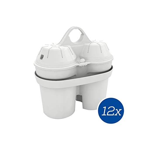 BWT Filterkartusche Soft Filtered Water | Kalkschutz & mehr Genuss | passt in BWT und Brita Tischwasserfilter | Jahresvorrat Kartuschen - 12 Stück im Set