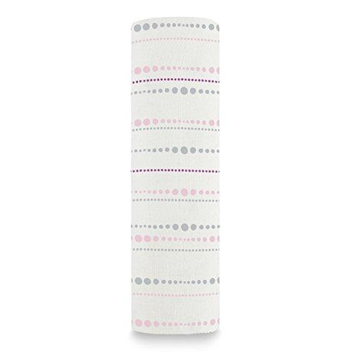 aden + anais - Couverture souple soyeuse pour bébé, 120X120 cm, Perles Tranquillité