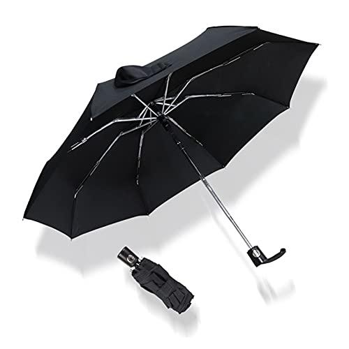YONGLI Mini AUTOMÁTICO 5 AUTOMÁTICO SOBRELLA Lluvia Lluvia Lluvias Mujeres Resistentes DE Viento Resistente PORTALIBLE DESPUÉS DE Moda DE Moda DE ALIMENTADOR (Color : Black)