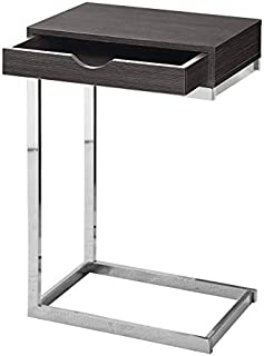 Pemberly Row Single Drawer Accent Table in Gray Wood