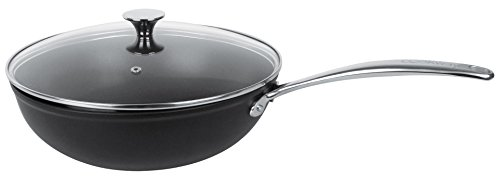 Cristel - CWMARW36- Wok aluminium 36cm + couvercle - Anti-adhérent Exceliss+ - Collection Cookway