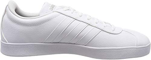 adidas Damen VL Court 2.0 Fitnessschuhe, Weiß (Ftwbla/Ftwbla/Ciberm 000), 36 2/3 EU