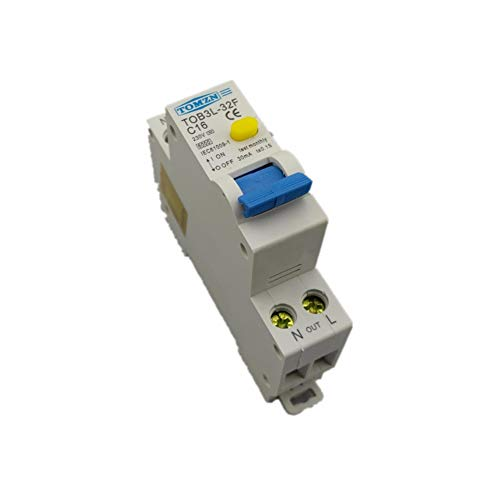 Disyuntor 18Mm Rcbo 16A 1P + N 6Ka Disyuntor Automático Diferencial De...