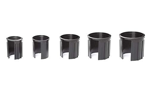 Reduzierringe | Schwarz | 5-TLG. | für Granitsockel