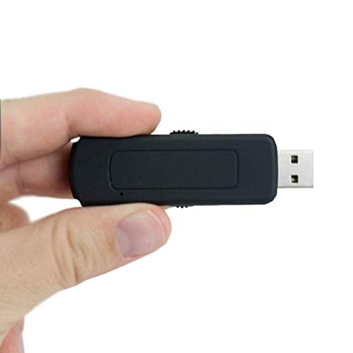 Mini Registratore Audio Professionale Fino a 6 Giorni con attivazione vocale, microspia Audio Nascosta in chiavetta USB di Alta qualità con Vas Vox, ascolto da PC, Mac e cellulari Via OTG