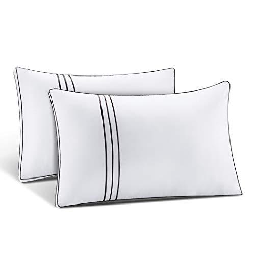 ZCF Juego de 2 almohadas de dormir suaves de calidad de hotel, soporte de relleno de microfibra para cuello, dolor de hombro, espalda y dormir de lado (70 x 46 cm)