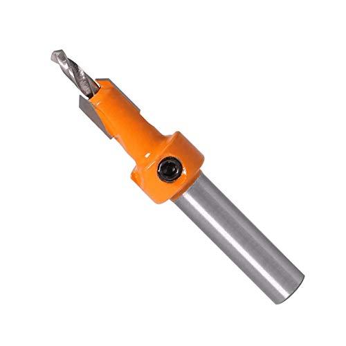 Pangyoo PYouo-Mejor bit de enrutador 1pcs 8 mm Vástago Avellanadora Router bit Set Extractor de Tornillos de demolición Fresa, Productos duraderos (Color : 3.5mmX8mm)