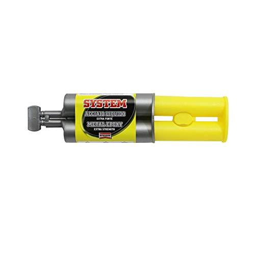 Arexons epoxy-lijm, staal, bijzonder resistent, 200 kg-cm2 (spuit 25 ml in blister)