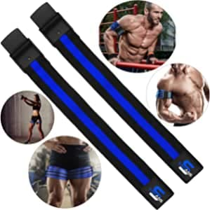 Fasce comprimenti elastiche per allenamento, confezione da 2 pezzi, con fibbia a rilascio rapido, per limitazione del flusso sanguigno, per una crescita dei muscoli senza sollevare pesi eccessivi