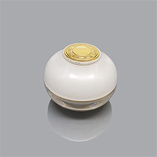 YSJJNDH Envase de Botella Vacío 5G 10G 15G 30G 50G Crema de acrílico Tarrar Cosméticos Embalaje Jar Pot Maquillaje Ojo Crema Sombra de Ojos Polvo de uñas Caja de Embalaje