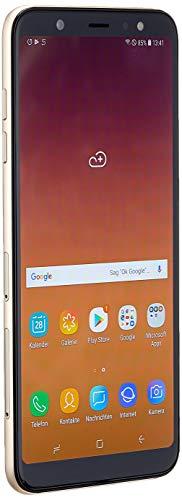 Samsung Galaxy A6 Plus - Smartphone libre Android 8,0 (6' FHD+), Dual SIM, Cámara Trasera 16MP + 5MP Flash (3 nivles) y Frontal 24MP + Flash, Dorado, 32 GB 6' - Versión española