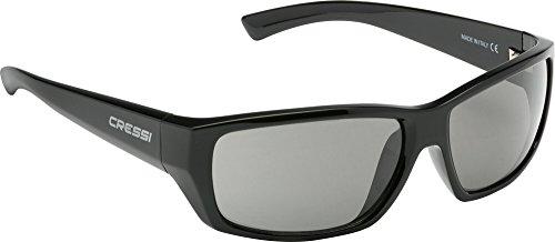 Cressi Apollo Sonnenbrille, Schwarz/Linsen Grau, Uni